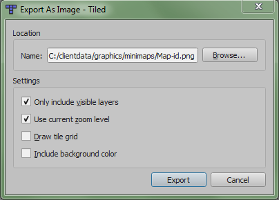 Export As Image Tab